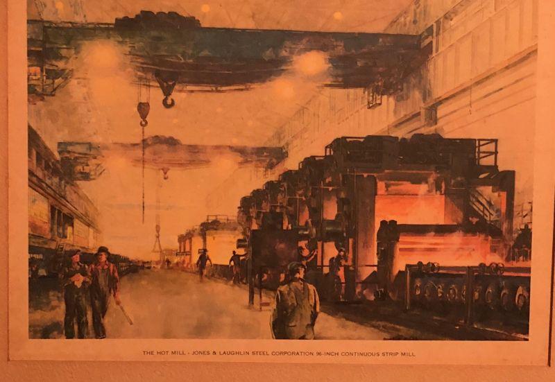 J-L men fight,Steel Workers,Jones /& Laughlin Corp,Aliquippa,Pennsylvania,1937