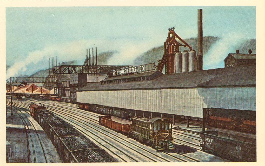 New Motors Erie Pa >> P&LE Postcards by Howard Fogg