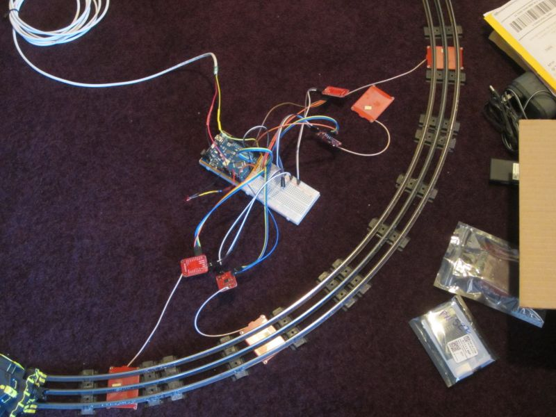 Train Detection using PN532 RFID Modules